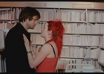 Kate Winslet, books, Jim Carrey, Eternal Sunshine of the Spotless Mind - random desktop wallpaper