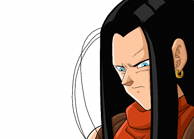 Android, anime, Dragon Ball Z, white background - desktop wallpaper