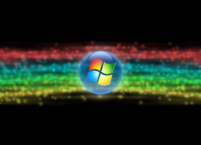 rainbows, Microsoft Windows, logos - desktop wallpaper