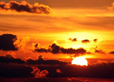 sunset, clouds, landscapes, nature, Sun, skyscapes - desktop wallpaper