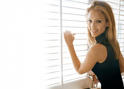 blondes, women, Jessica Alba, actress, white background - random desktop wallpaper