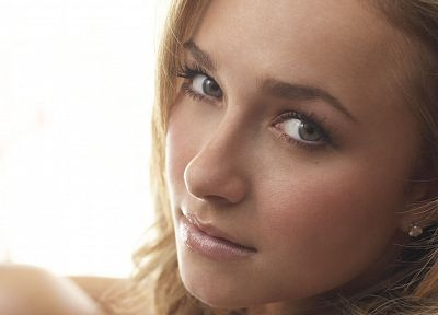 blondes, women, actress, Hayden Panettiere, celebrity, faces, white background - desktop wallpaper