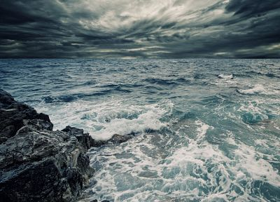 landscapes, coast, storm, sea - random desktop wallpaper