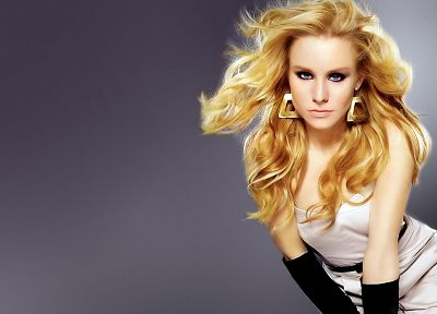 blondes, women, Kristen Bell, actress, earrings - related desktop wallpaper