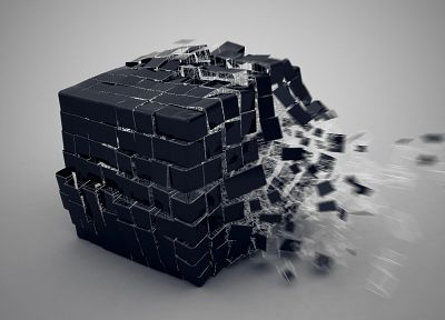 cubes, 3D - random desktop wallpaper