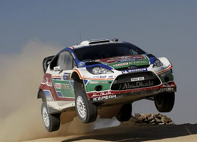 Ford, rally, airborne, rally cars, Ford Fiesta WRC - random desktop wallpaper