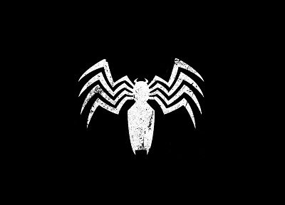 black, comics, Spider-Man, Marvel Comics, Peter Parker, black background, Spider-man logo - related desktop wallpaper