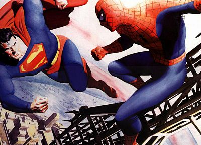 DC Comics, Spider-Man, Superman, Marvel Comics - related desktop wallpaper