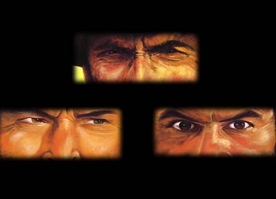 dark, movies, Clint Eastwood, film, The Good The Bad And The Ugly, Harold And Kumar, Eli Wallach, Lee Van Cleef, Kal Penn - related desktop wallpaper