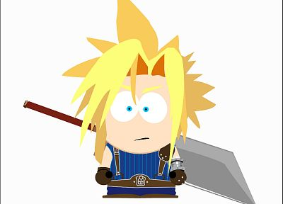 Final Fantasy, South Park, Cloud Strife - random desktop wallpaper