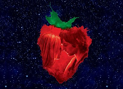 stars, lovers, strawberries, Across the Universe - desktop wallpaper