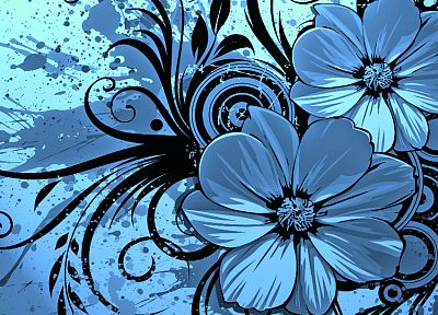 abstract, flowers, artwork - related desktop wallpaper