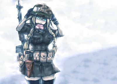 soldiers, valentine, Valentines Day, soft shading, anime girls - random desktop wallpaper