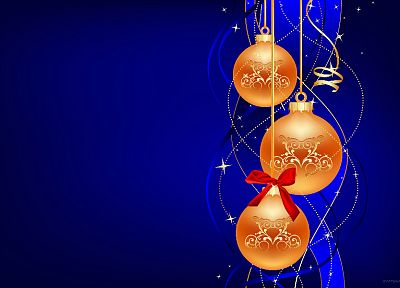 Christmas, holidays, ornaments - desktop wallpaper