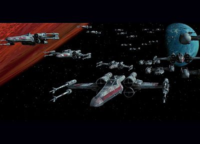 Star Wars, spaceships, X-Wing, vehicles - random desktop wallpaper