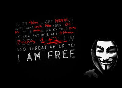 Anonymous, stupidity, TagNotAllowedTooSubjective, 4chan, idiot - related desktop wallpaper