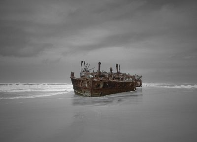ships, shipwrecks, vehicles, beaches - related desktop wallpaper