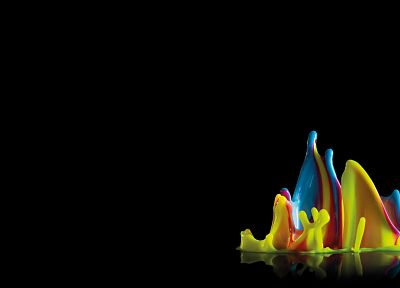 abstract, multicolor, liquid, rainbows, digital art, splashes - related desktop wallpaper