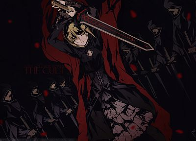 Fate/Stay Night, dark, dress, weapons, Type-Moon, black dress, Saber, swords, Saber Alter, Fate series - related desktop wallpaper