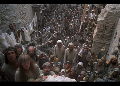 Monty Python, crowd, Life of Brian - random desktop wallpaper