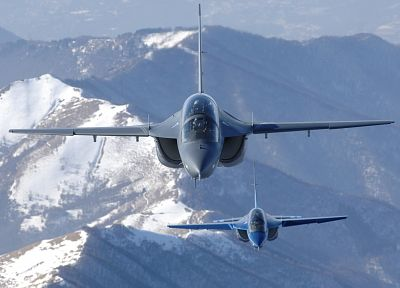 aircraft, vehicles, jet aircraft, trainers, Aermacchi M-346 - random desktop wallpaper