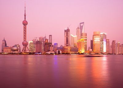water, cityscapes, Shanghai - desktop wallpaper