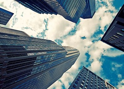 clouds, cityscapes, buildings, skyscrapers, skyscapes - random desktop wallpaper