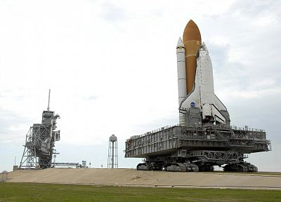 Space Shuttle, Atlantis, NASA, launch pad - random desktop wallpaper