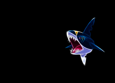 Pokemon, black background, Sharpedo - random desktop wallpaper
