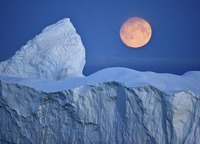 bay, Full Moon, Greenland - random desktop wallpaper