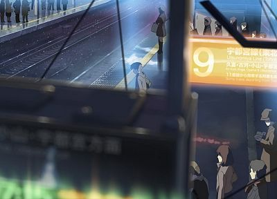Makoto Shinkai, train stations, 5 Centimeters Per Second, railway - desktop wallpaper