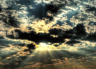 clouds, nature, Sun, sunlight, skyscapes - desktop wallpaper