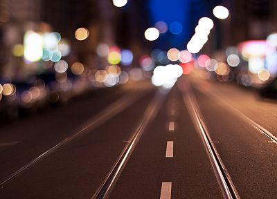 cityscapes, streets, lights, miniature effect - random desktop wallpaper