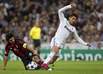 sports, Real Madrid, Cristiano Ronaldo, AC Milan, Gennaro Gattuso - random desktop wallpaper