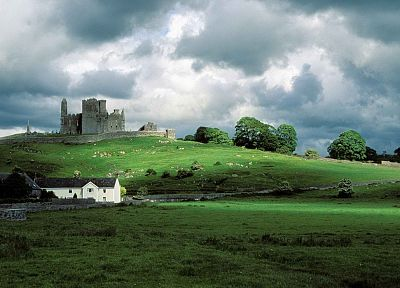 Ireland, Rock of Cashel - desktop wallpaper