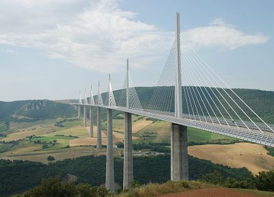 France, bridges, Millau viaduct - random desktop wallpaper
