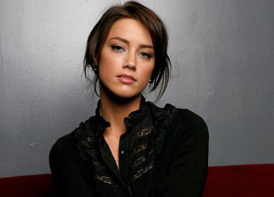 brunettes, women, actress, celebrity, Amber Heard - desktop wallpaper