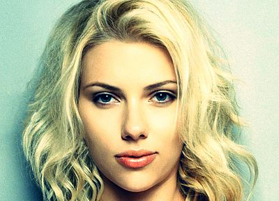 blondes, women, eyes, Scarlett Johansson, blue eyes, actress, faces, portraits - desktop wallpaper