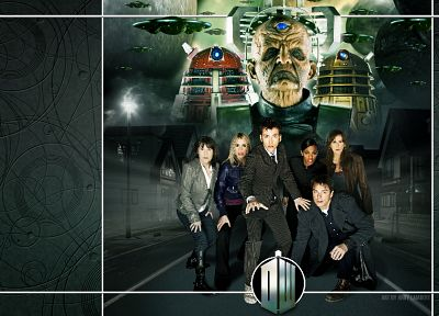 Rose Tyler, David Tennant, Dalek, Billie Piper, Doctor Who, Freema Agyeman, Catherine Tate, Martha Jones, Donna Noble, Tenth Doctor - related desktop wallpaper