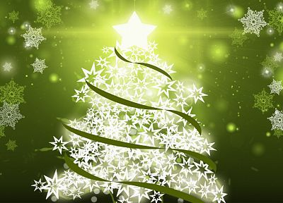 green, nature, Christmas, Christmas trees - related desktop wallpaper
