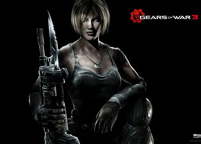 blondes, women, video games, Gears of War, Anya Stroud - random desktop wallpaper