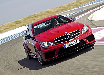 red, cars, Mercedes-Benz C63 AMG - related desktop wallpaper