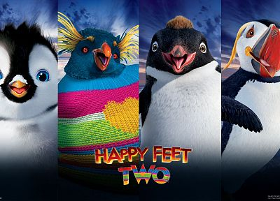 movies, Warner Bros., Happy Feet 2 - random desktop wallpaper