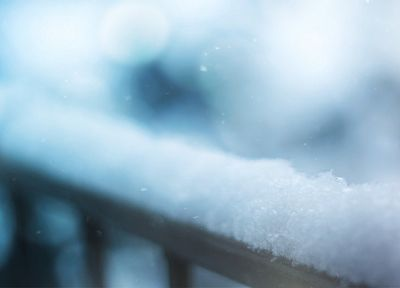 snow, depth of field - random desktop wallpaper