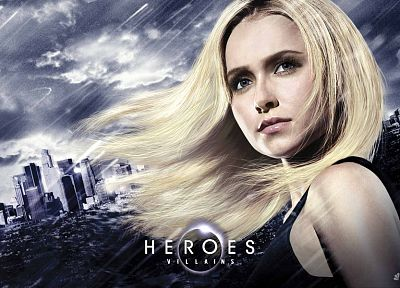 blondes, women, actress, Hayden Panettiere, Heroes (TV Series), TV posters - random desktop wallpaper
