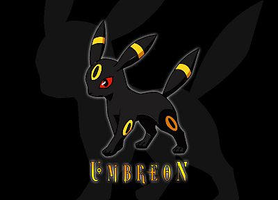 Pokemon, Umbreon, Eeveelutions, black background - desktop wallpaper
