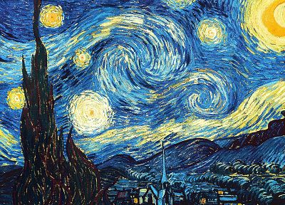 paintings, night, Vincent Van Gogh, Starry Night - random desktop wallpaper