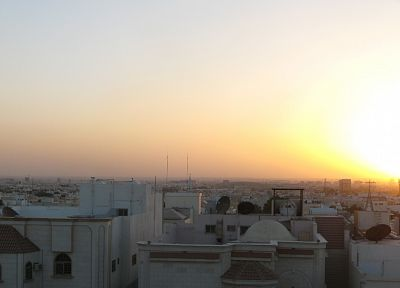 sunrise, cityscapes, panorama, Saudi Arabia, multiscreen, Riyadh - random desktop wallpaper