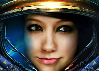 StarCraft, suit, Boxxy, US Marines Corps - random desktop wallpaper