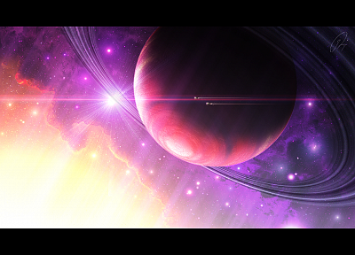 planets, artwork - random desktop wallpaper